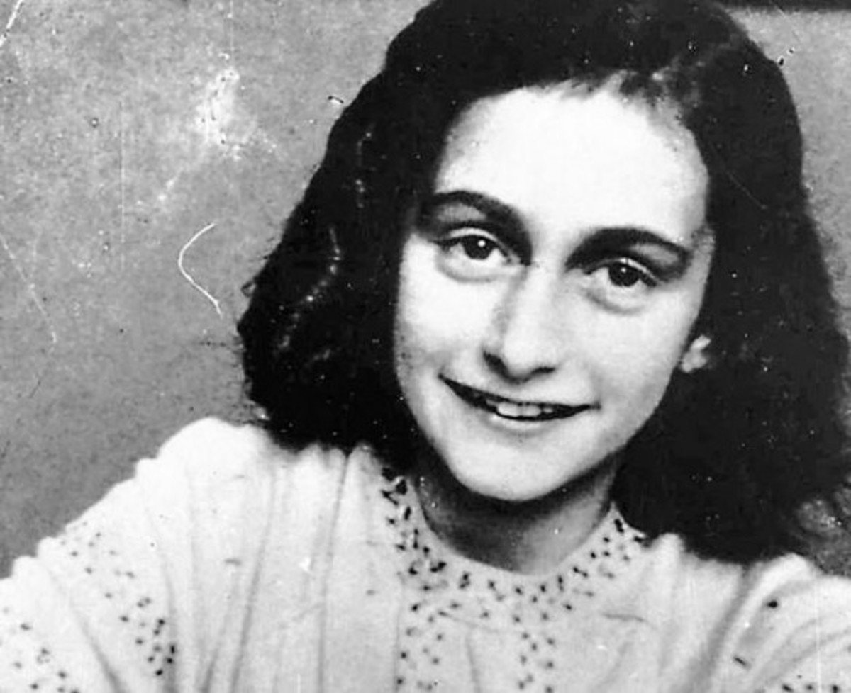 A young, enthusiastic Anne Frank