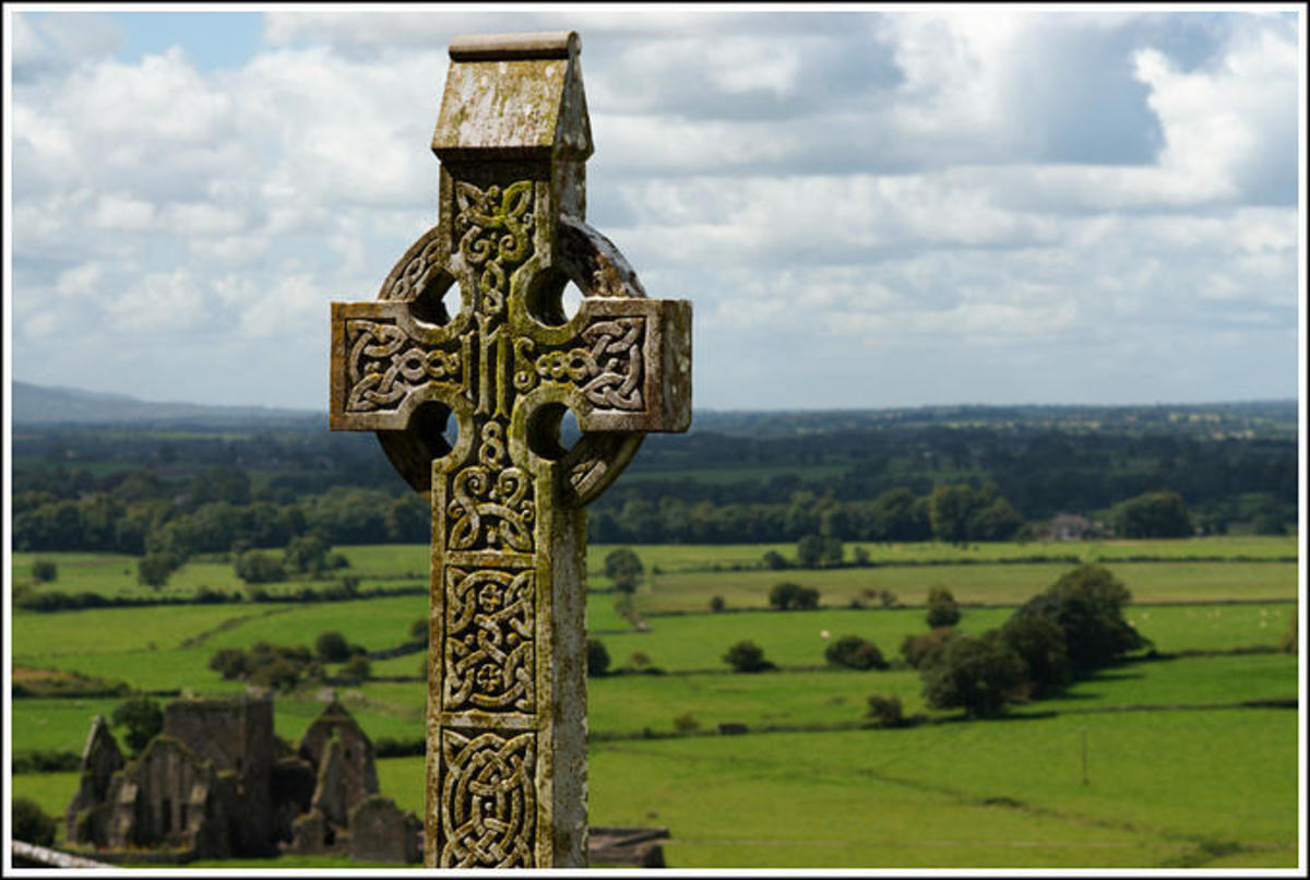 High crosses were common in Early Medieval Ireland. They were decorated with scenes from the New Testament which could teach about Christian beliefs.