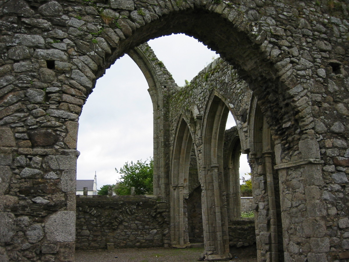 Remains of a Medieval Monastery in Killarney, Ireland.