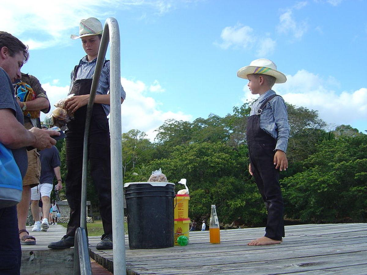 Mennonite children.
