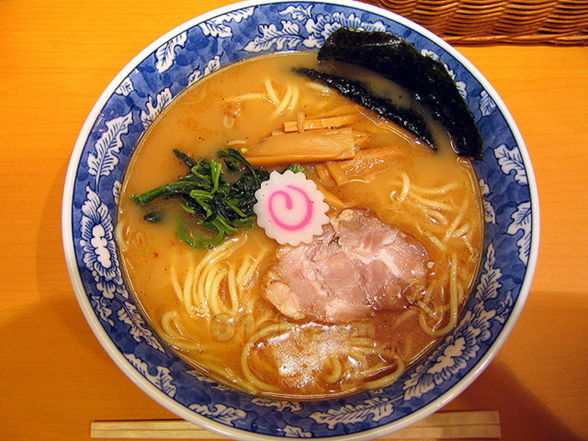 Ramen. A traditional Japanese soup with Chinese origins.
