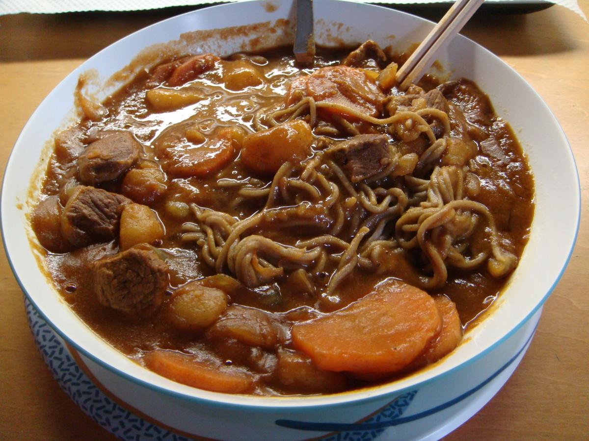 Home-made Curry Soba.