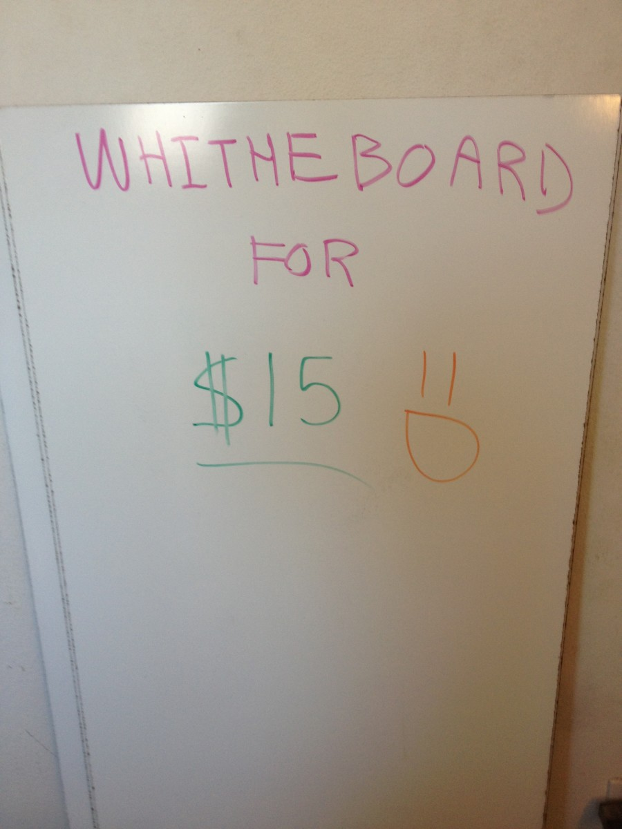 How to Make a Ghetto White Board for Cheap! (Less than $15!)