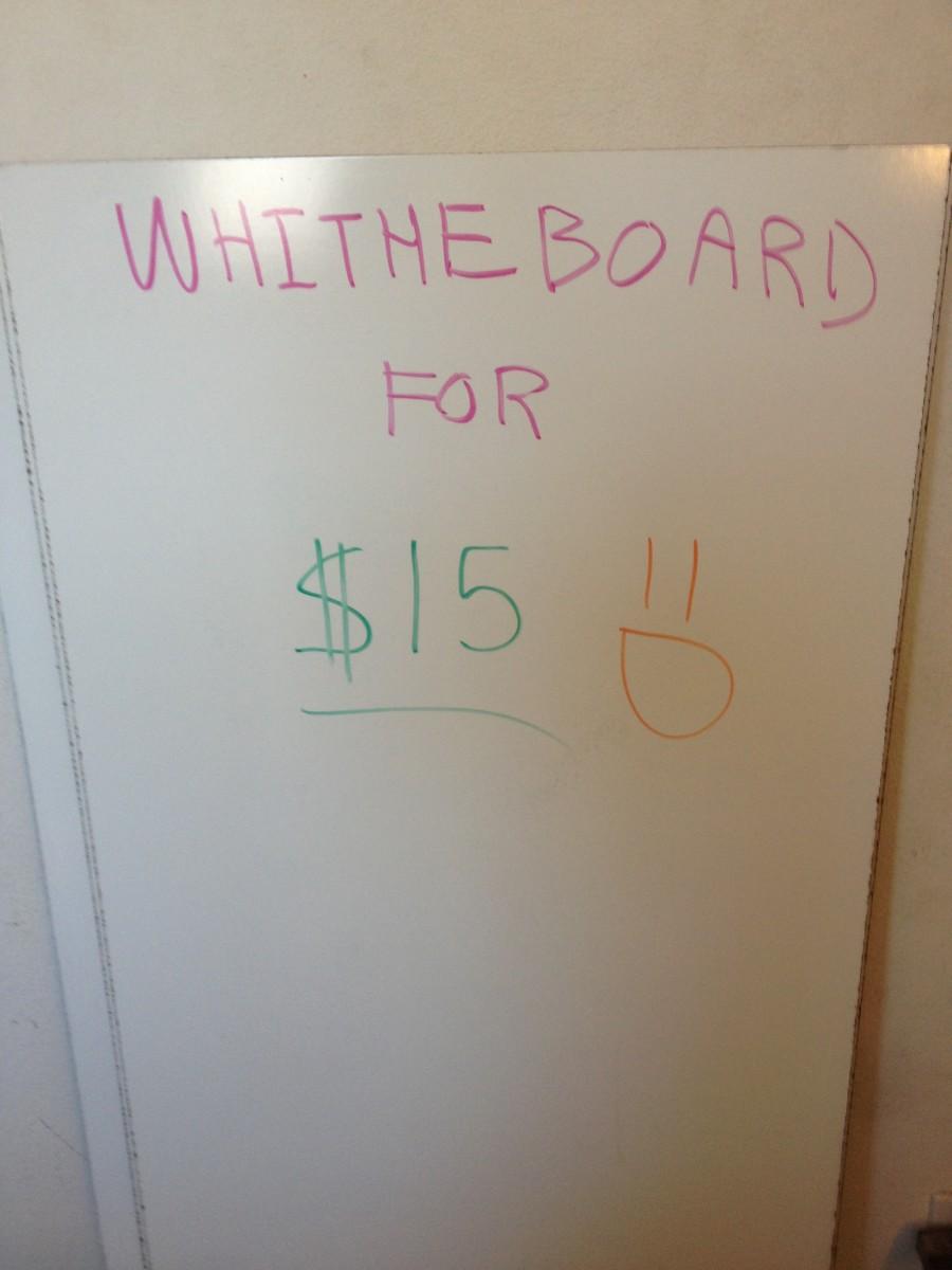 Ghetto WhiteBaord for Less than $15