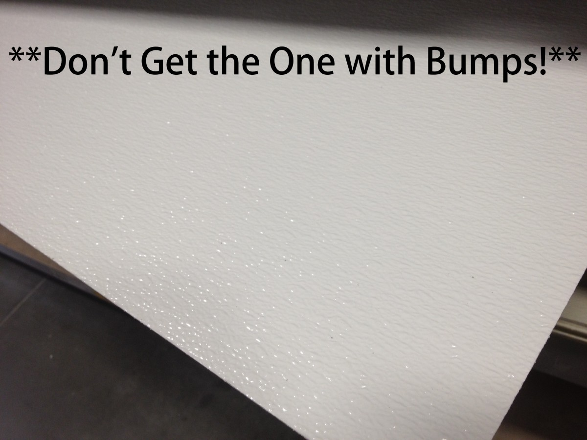 """DON'T GET THIS S#%T Called """"White Pebbled FRP"""" ...It looks similar, except that is has bumps & it's next to The """"White Panel Board"""" so Be Careful!"""
