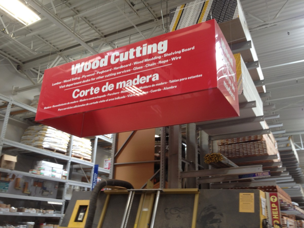 """Go to the """"Wood Cutting"""" Section so they Can Cut it for you"""