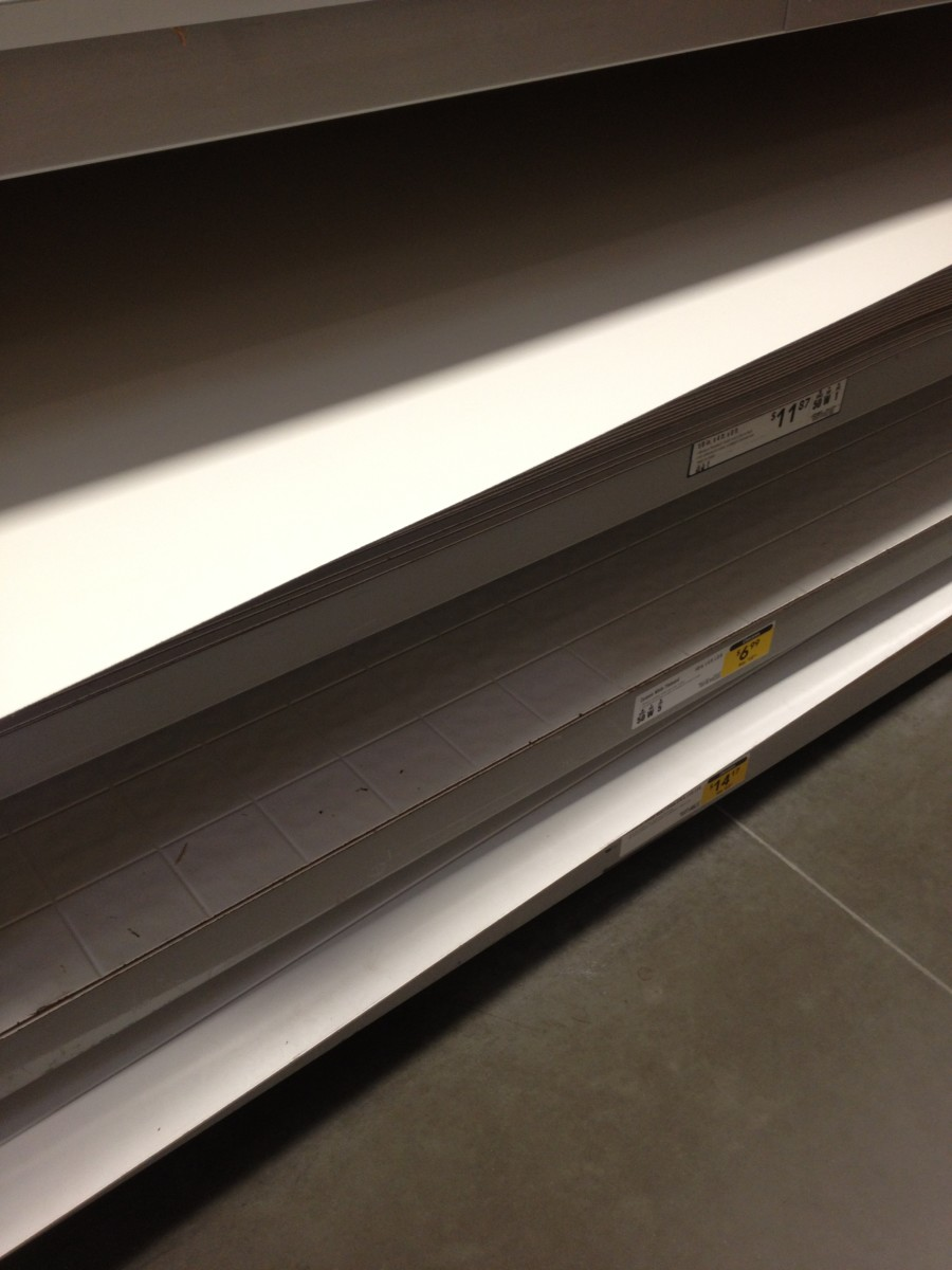 It was on top of another sheet & on the middle of Aisle 50 (in case you are too afraid to ask for Help)