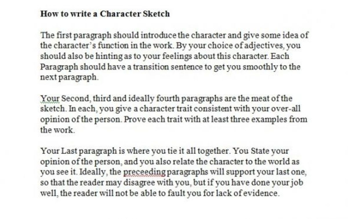 features of character essay What makes a personal essay different from a regular one.