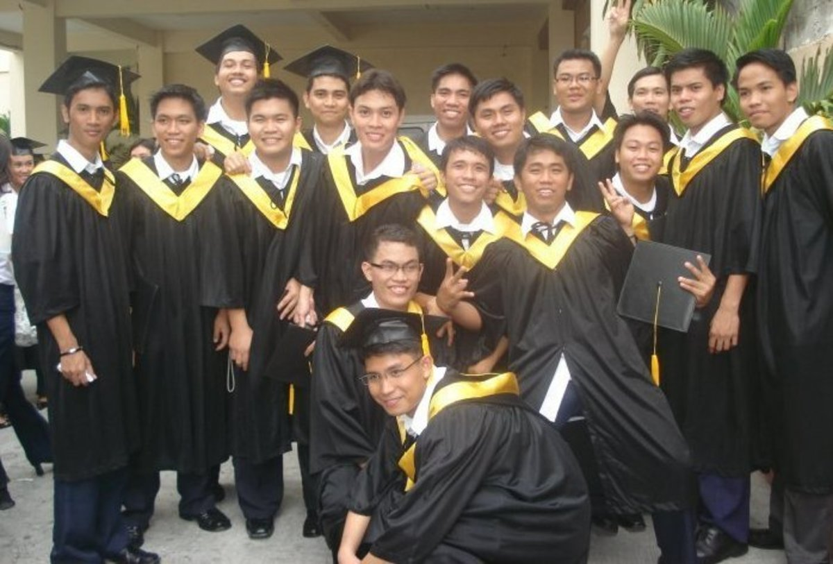 Bachelor of Accountancy Graduates of April, 2010 from DFCAMCLP with Dennis Magallanes at the center.