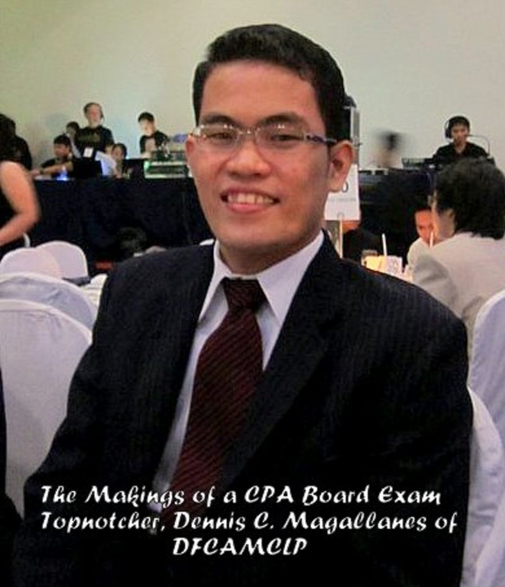 10th Placer in the CPA Board Examination of 2012, Dennis C. Magallanes