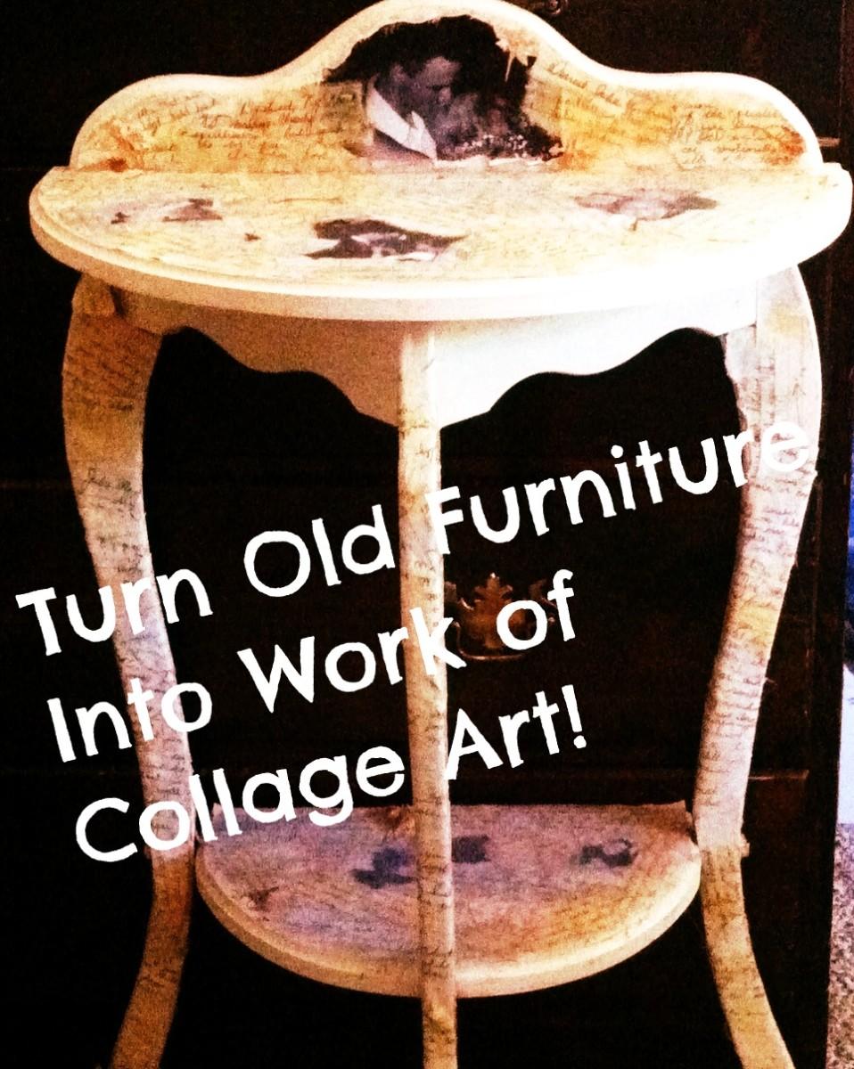 Modge Podge Furniture- A Fun Project