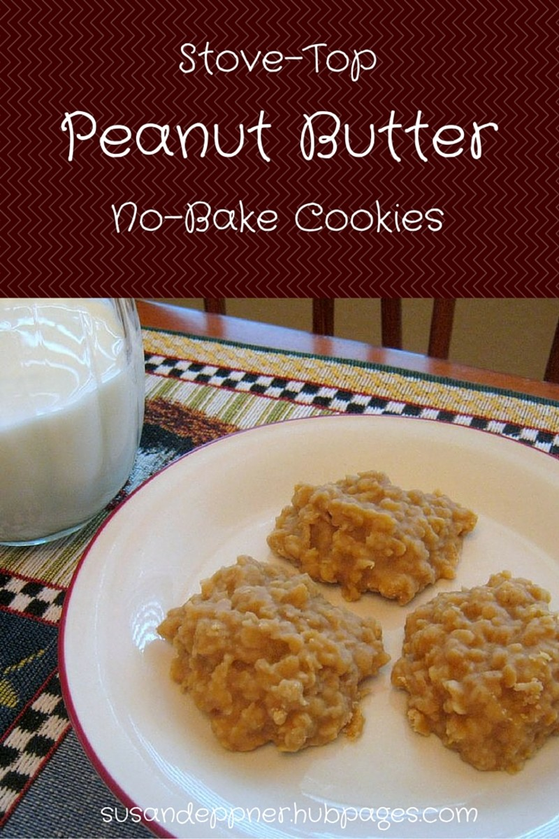Peanut Butter No Bake Cookies Recipe - On Top of the Stove!