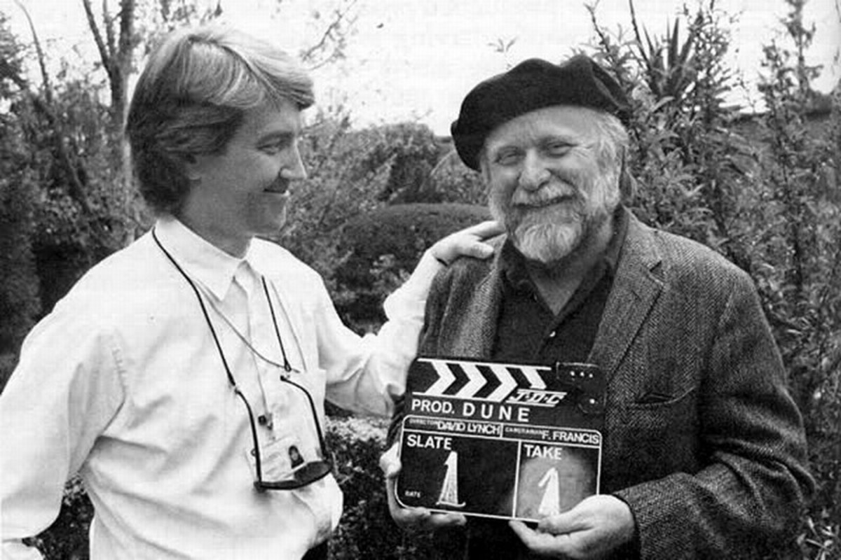 Director David Lynch with author Frank Herbert