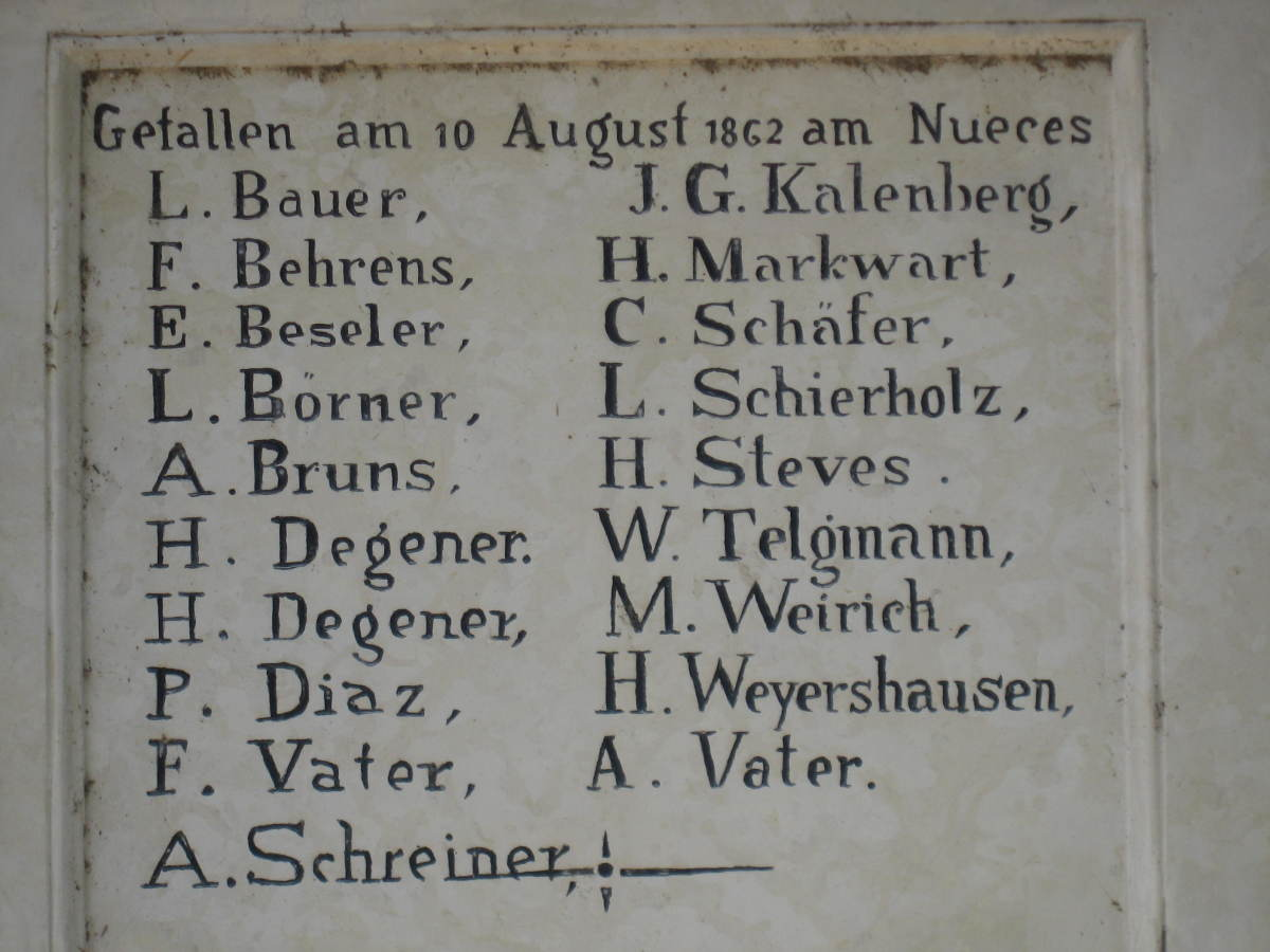 List of killed on 10 August 1862.