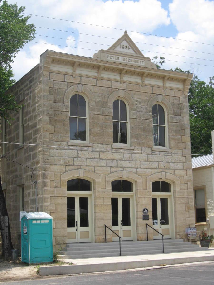 Peter Ingenhuett, late 1800s architecture, Comfort, Texas