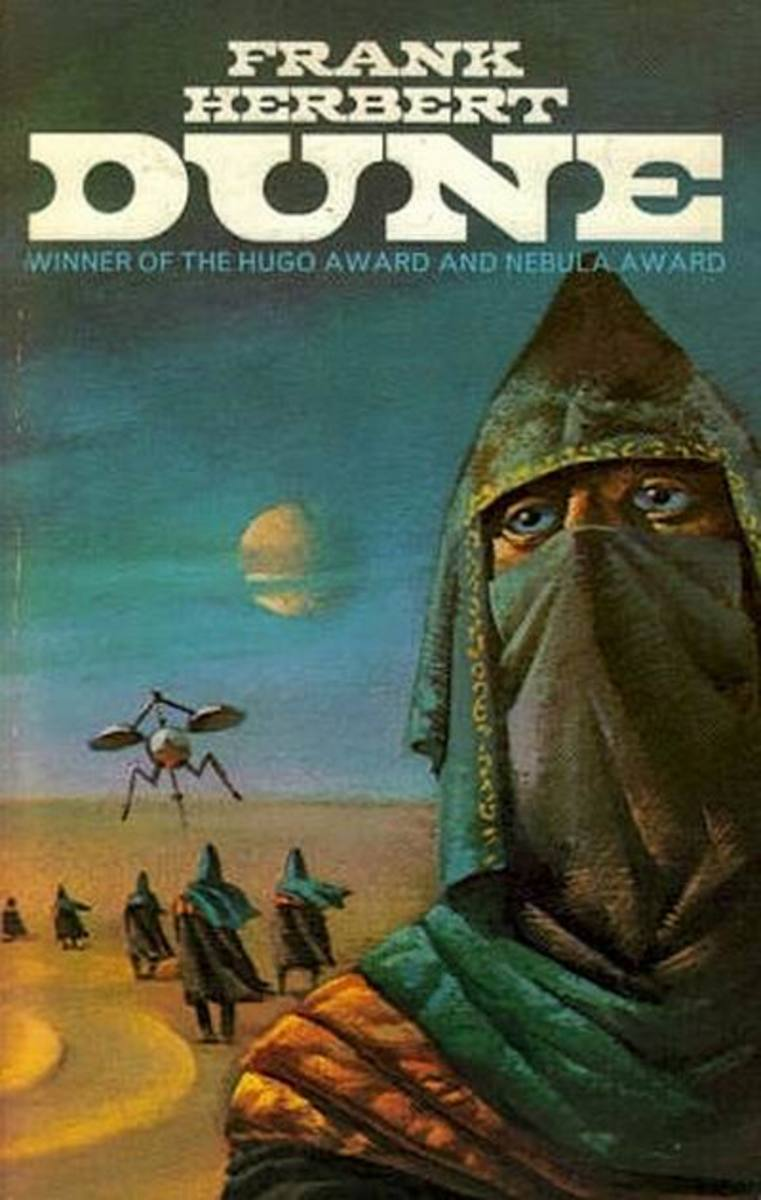 Dune book cover - art by Bruce Pennington