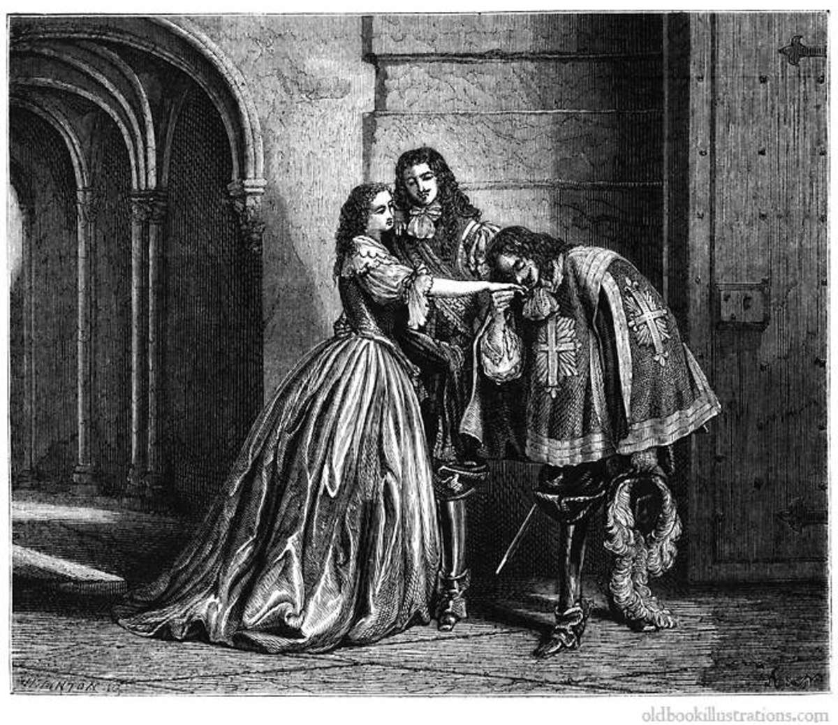 "Illustration from ""Le Vicomte de Bragelonne"" by A. Dumas"