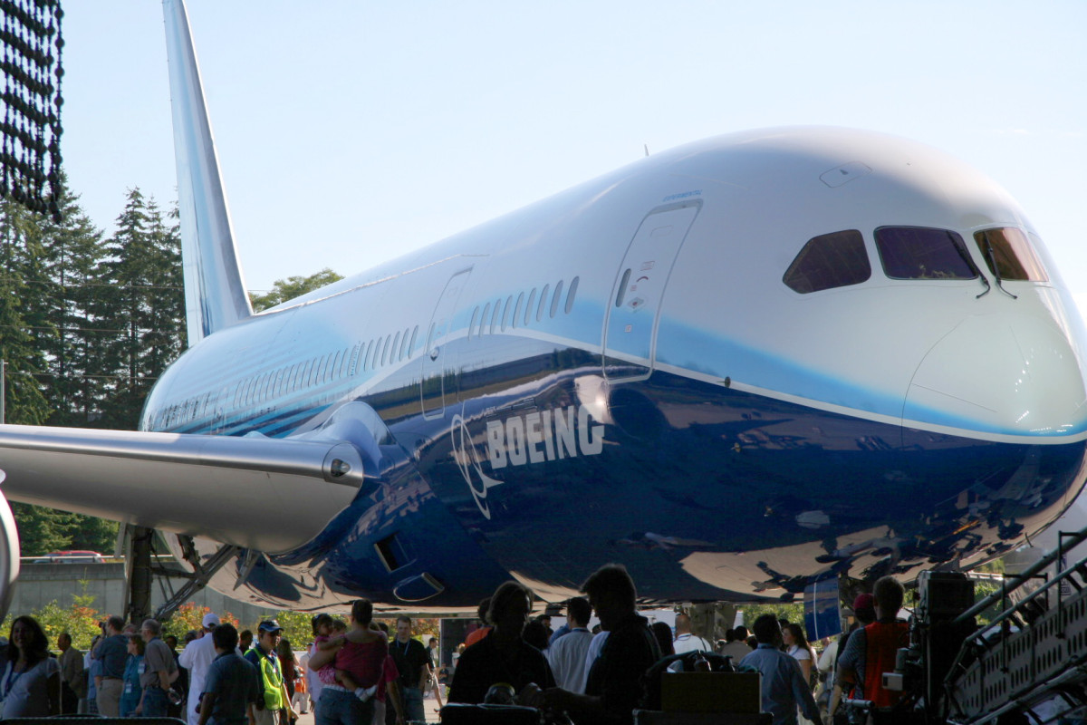 Roll-out of the 787