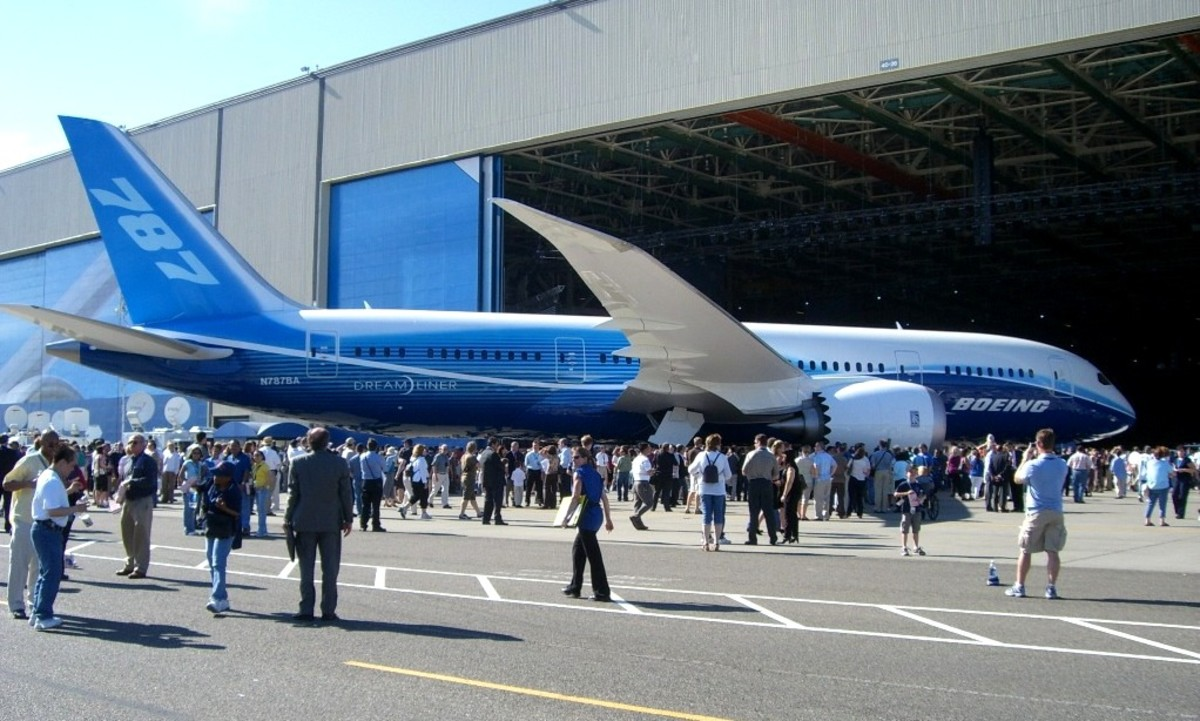 Rolling out the first 787