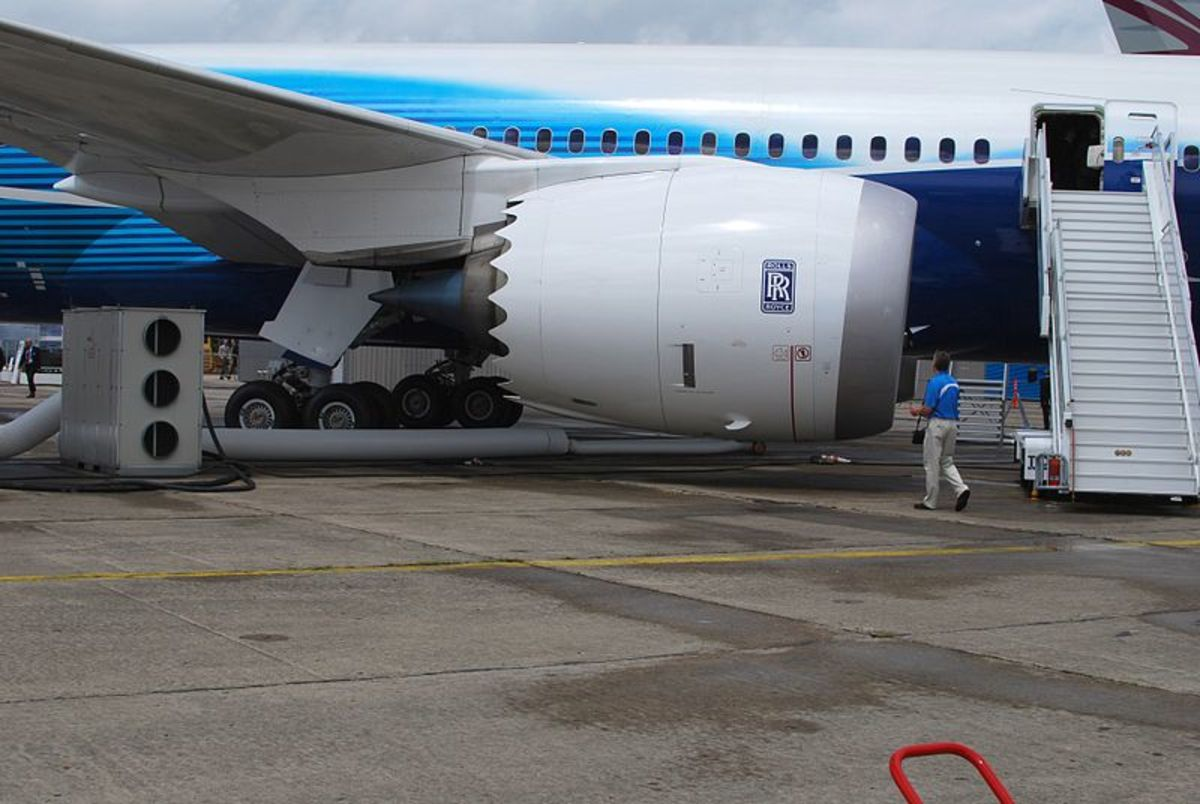 The new Rolls Royce Trent 1000 engine