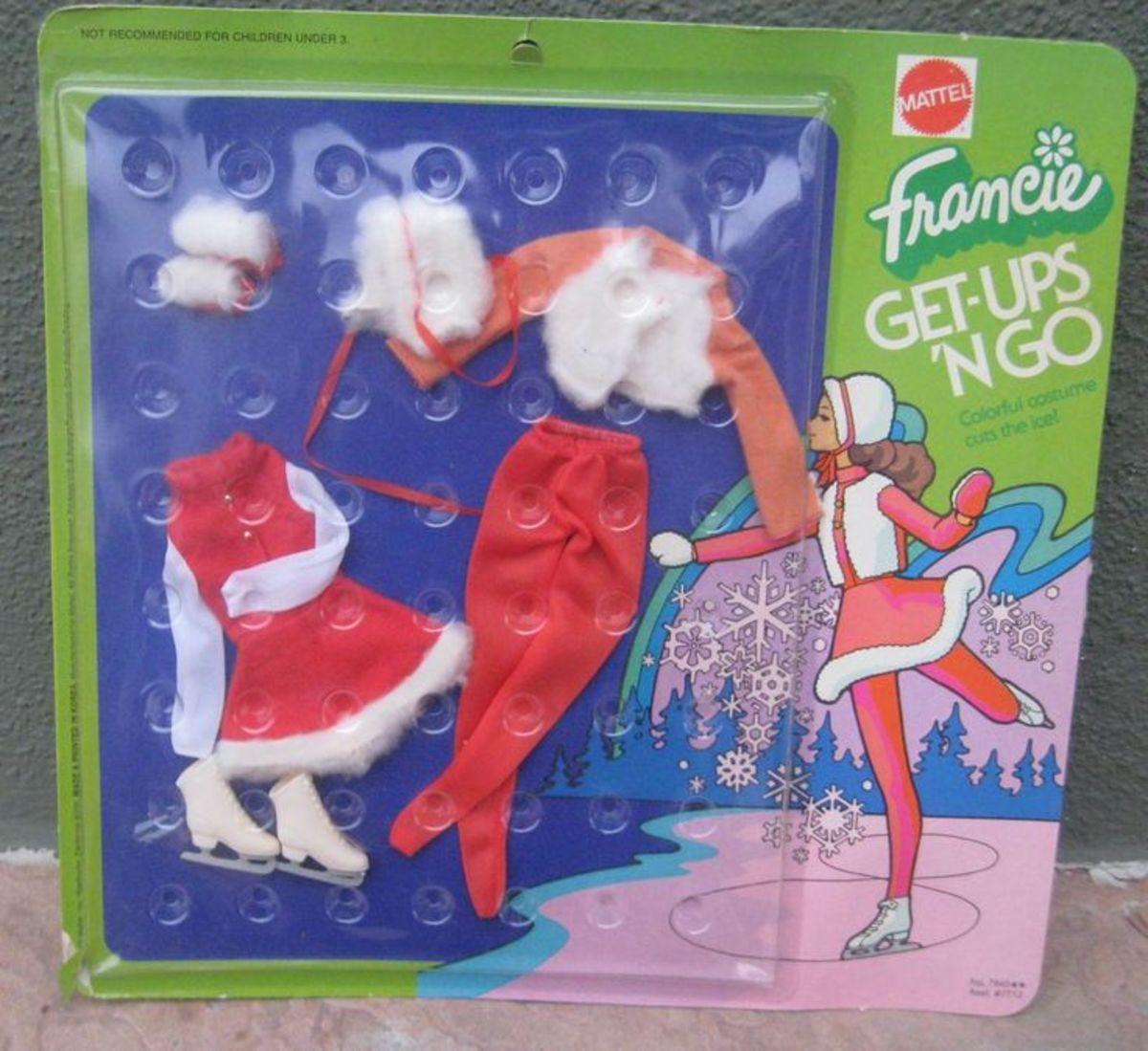 Francie Doll Get Ups 'N Go #7845; Ice Skating