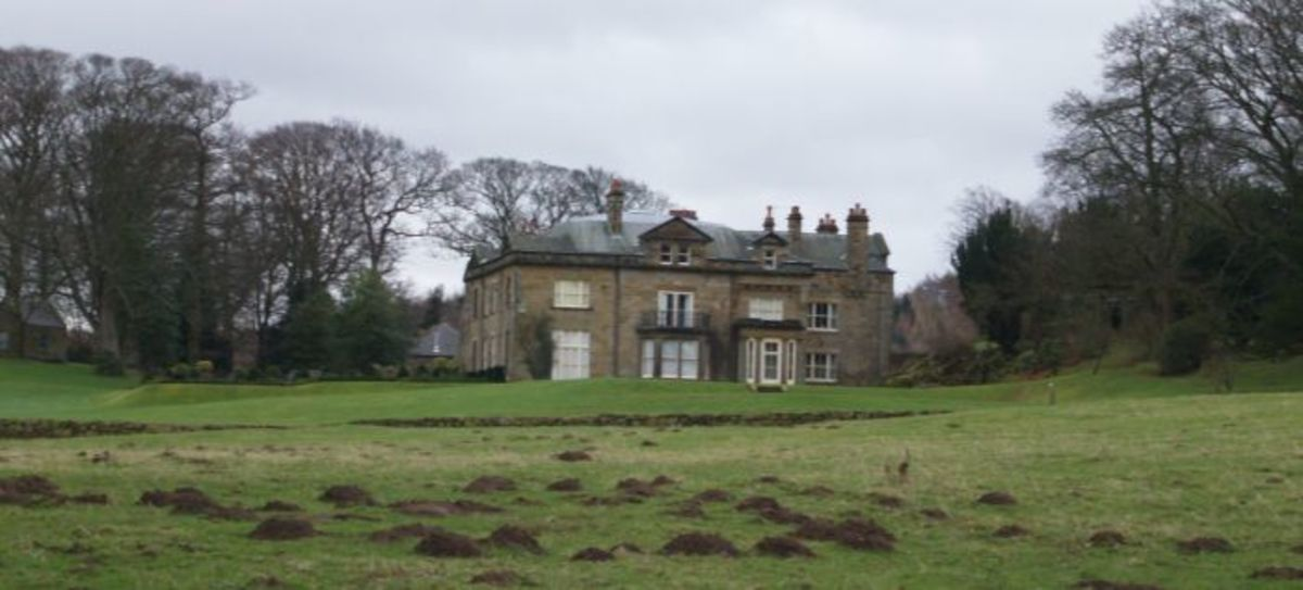 Kildale Hall to the east of the village, before you...