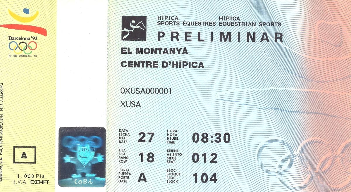 Olympic opening ceremonies ticket