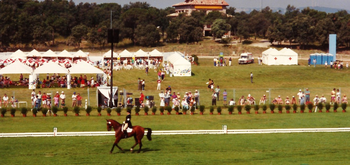 Dressage equestrian event seen during the 1992 Barcelona Olympics