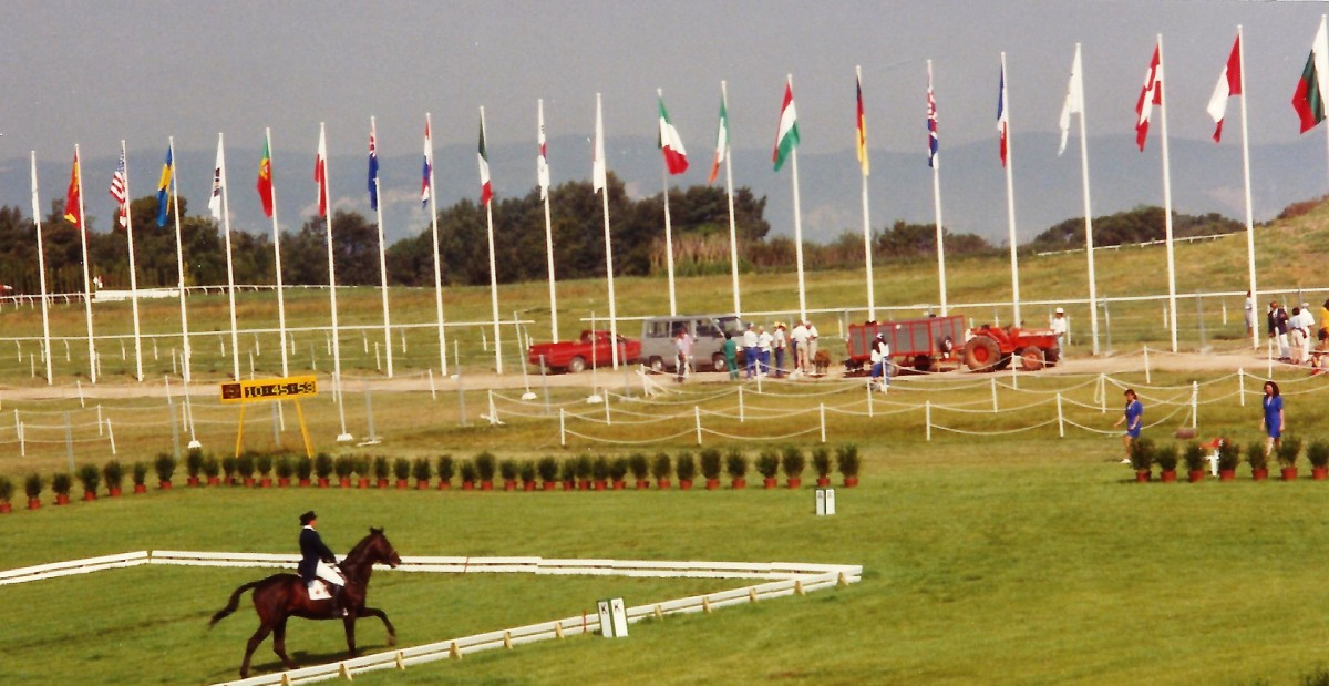 Dressage Olympic event outside Barcelona, Spain 1992