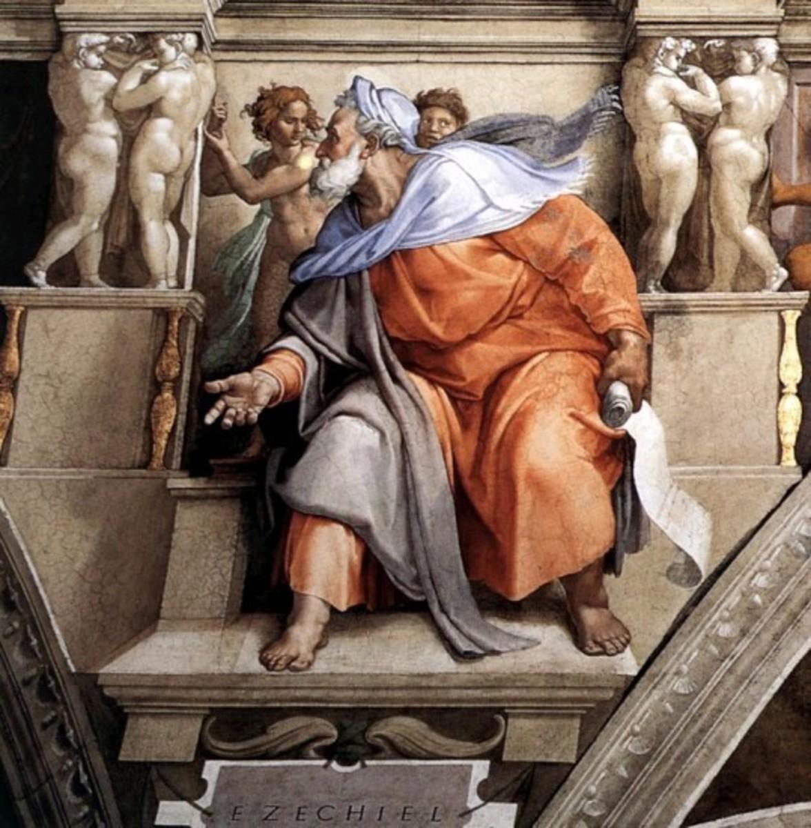 The Prophet Ezekiel, Michelangelo Buonarroti (1475-1564)