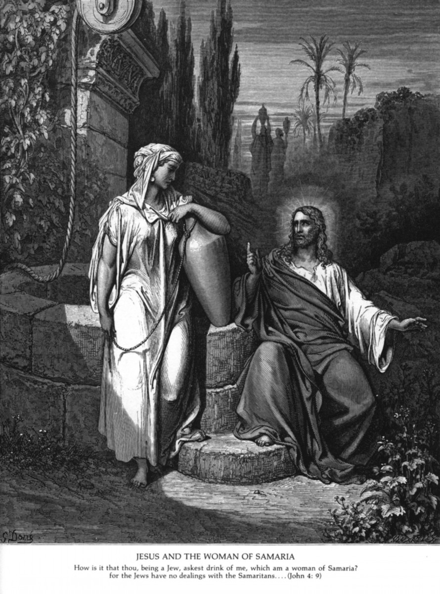 Jesus and the Woman of Samaria, Gustave Doré (1832-1883)