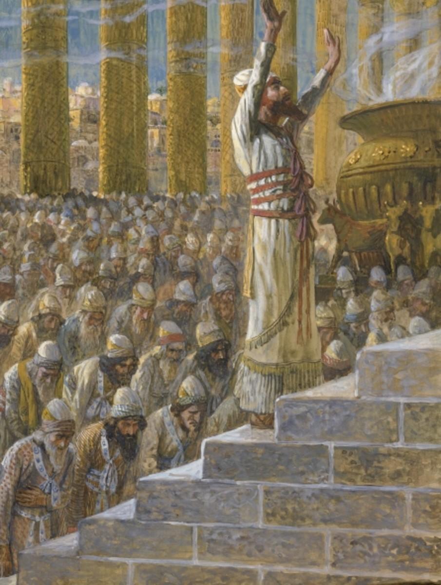 King Solomon Dedicates the Temple at Jerusalem, James Tissot (1836-1902)