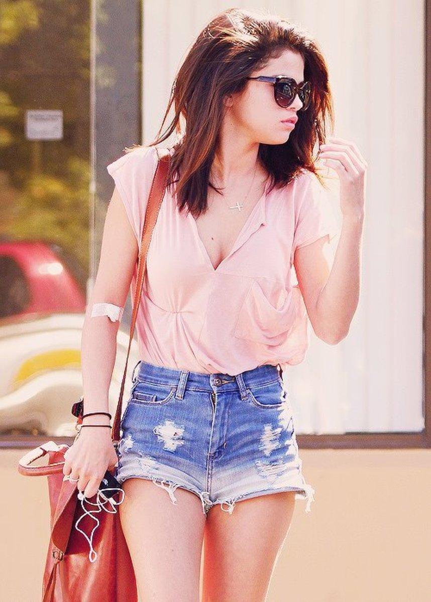 Selena Gomez in Short Shorts