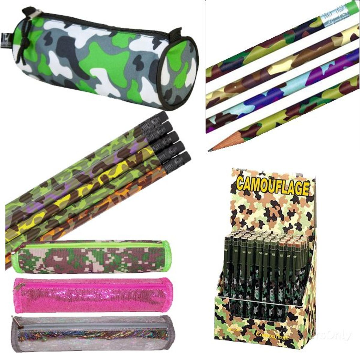 Camouflage Pencils and School Accessories