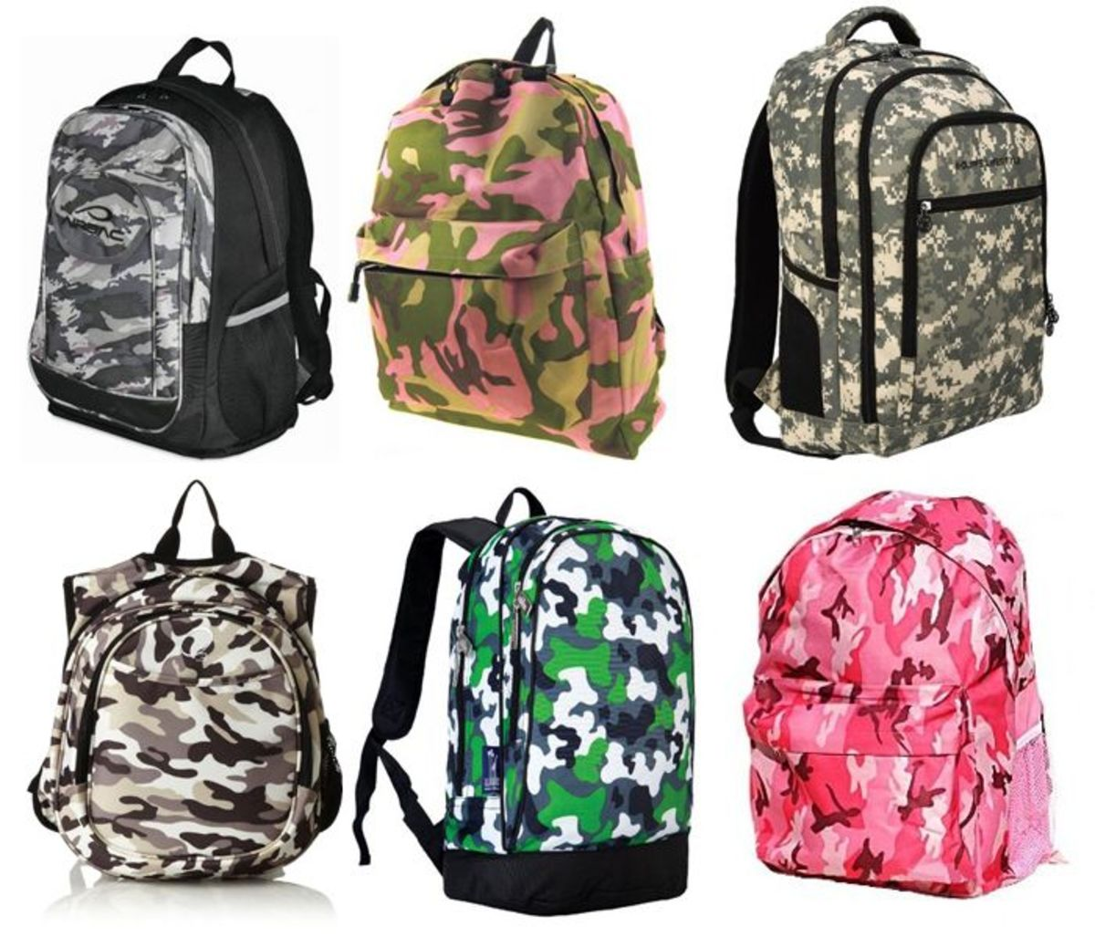 Camouflage Pattern Backpacks on Amazon