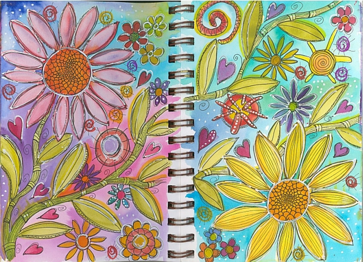 Step-by-step painted doodle tutorial