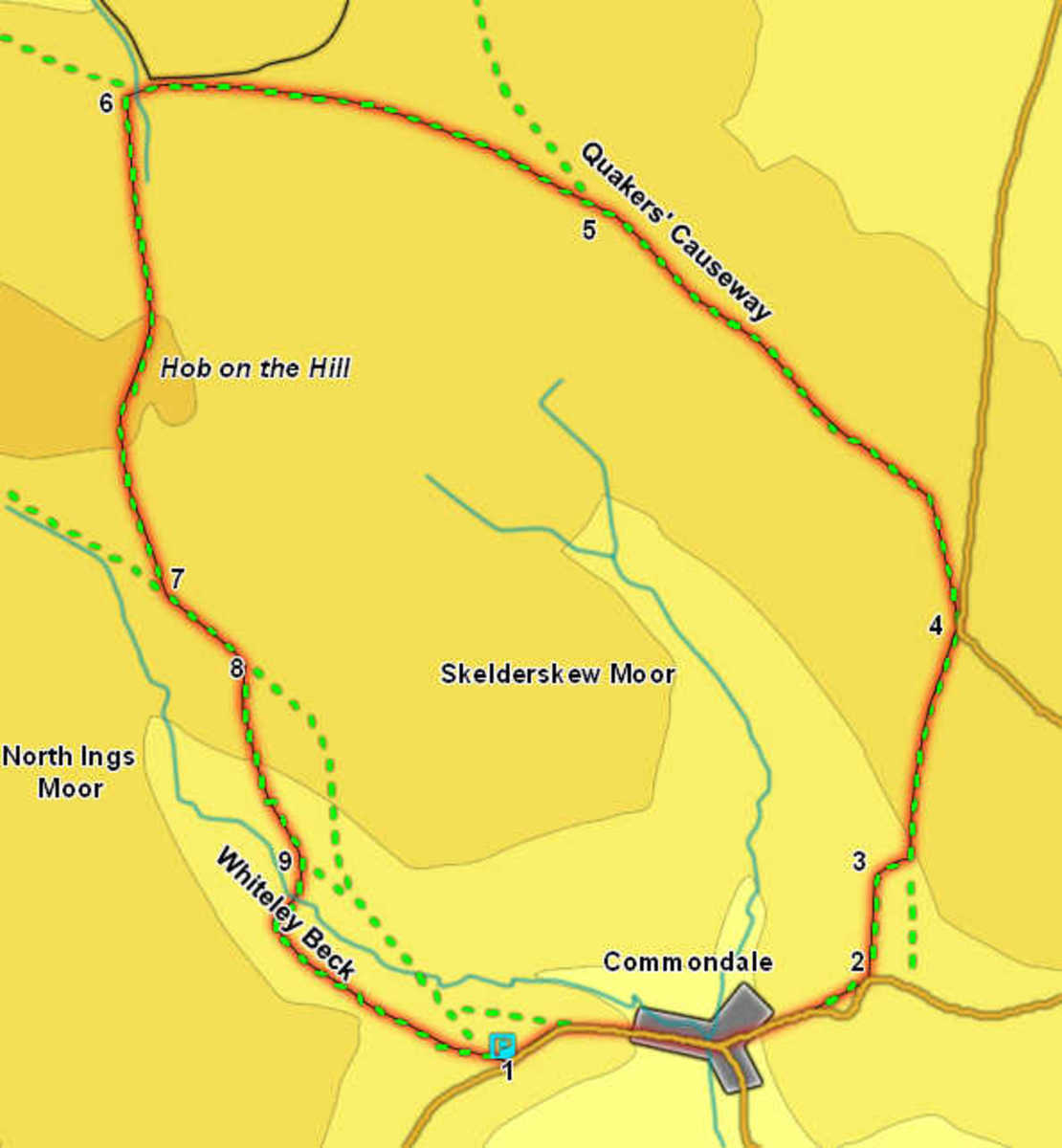 Commondale Moor walk via the Quakers Causeway, Hob On The Hill and Hob Cross are ancient waymarkers that have guided wayfarers back through pre-history