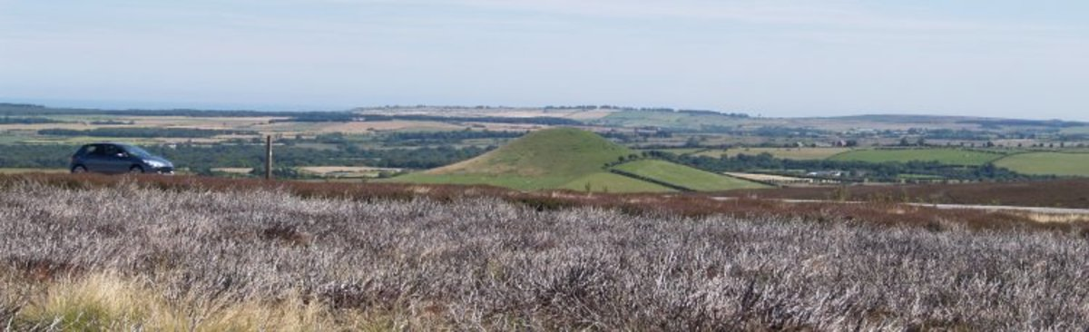 Looking down towards the natural conical  Freebrough Hill