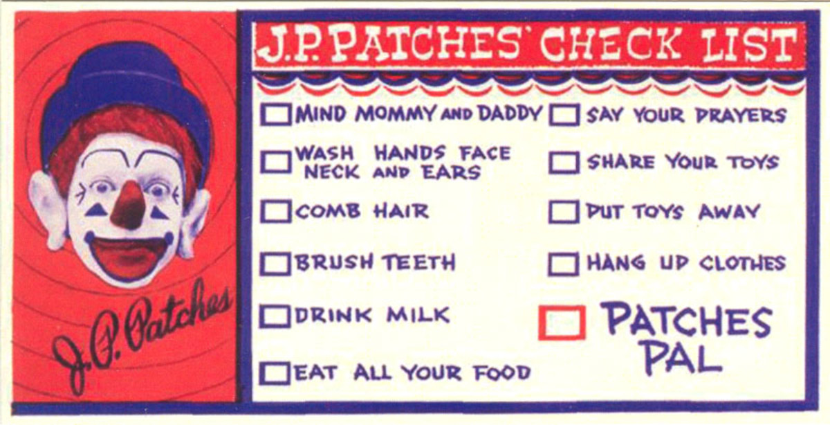 """JP went through this list every day on the air. If you completed the list, you were a Patches Pal...""""and then your mother would faint."""""""