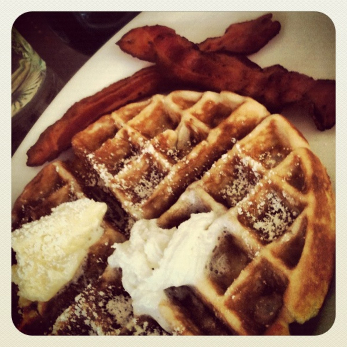 Bacon and Butter are Very High in Fat.