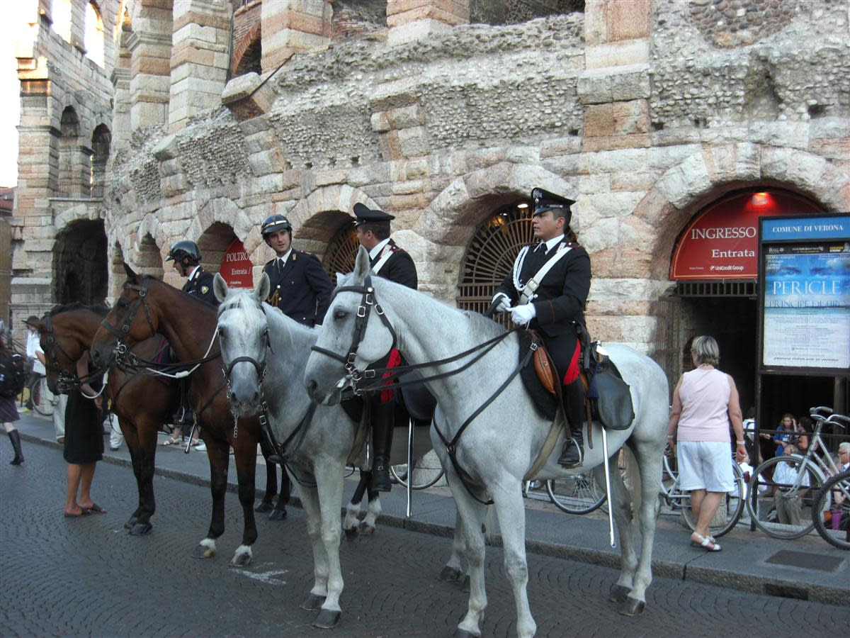 Carabinieri (National Police) Outide the Arena