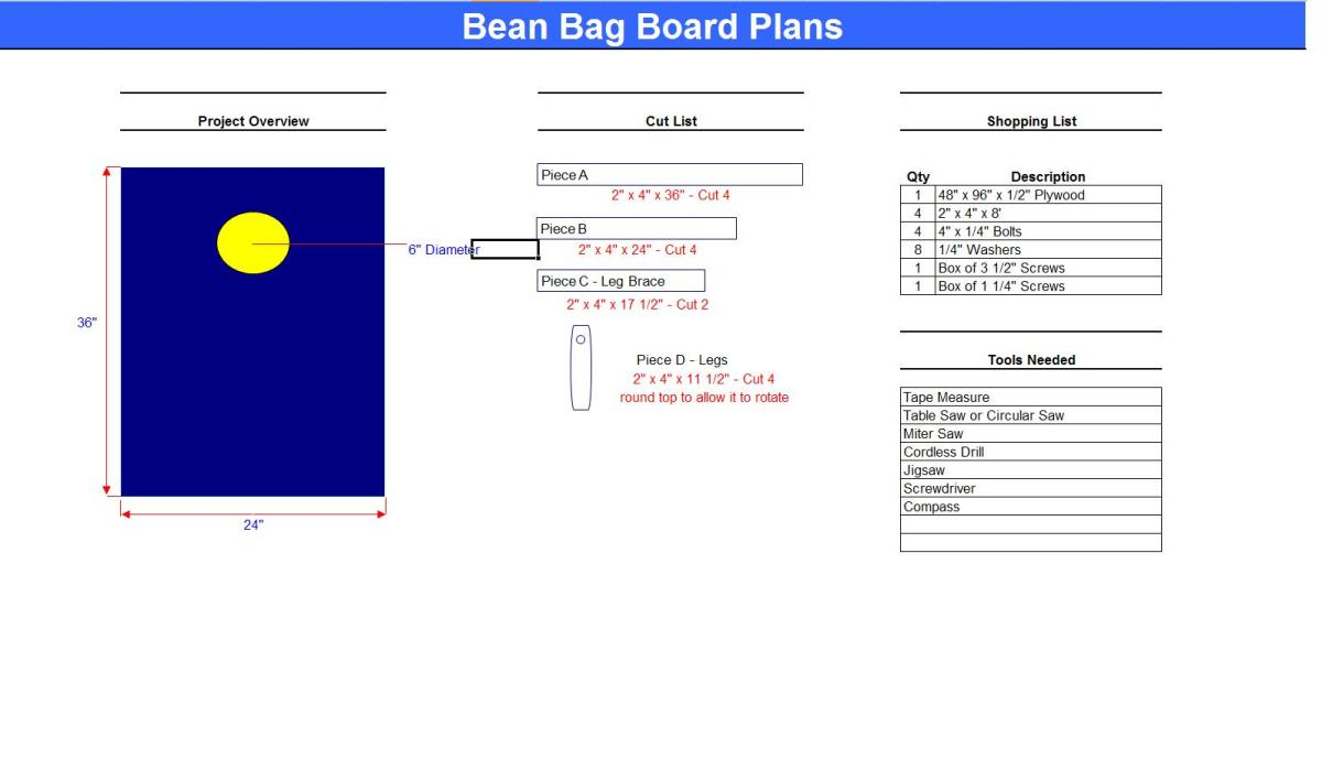 My Plans for Building Bean Bag Boards