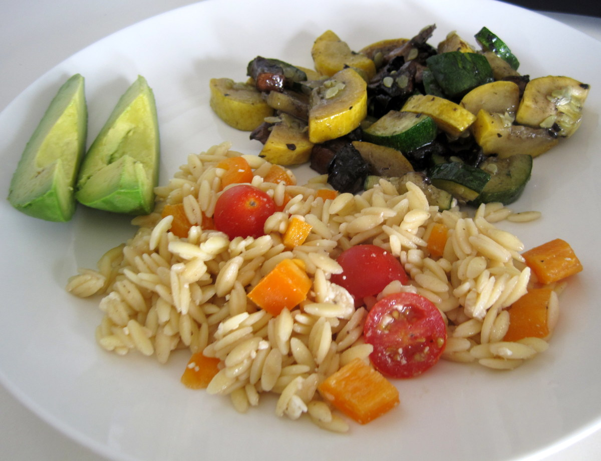 Cold Orzo Pasta Salad Recipe With Tomatoes and Feta Cheese