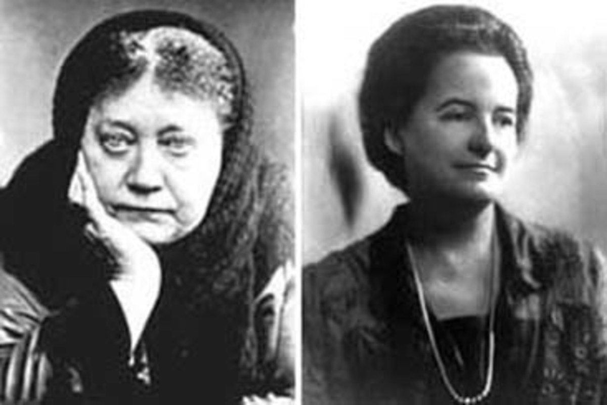 Left: Helena Blavatsky, Right: Alice A Bailey of Lucifer Trust, aka Lucis Trust
