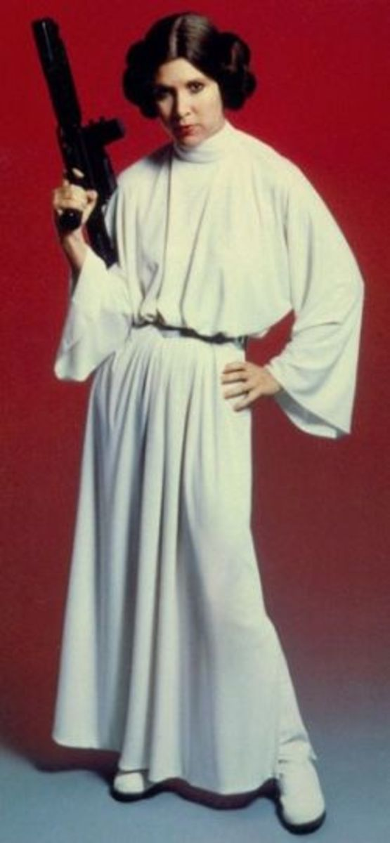 Carrie Fisher as Princess Leia from Star Wars; A New Hope