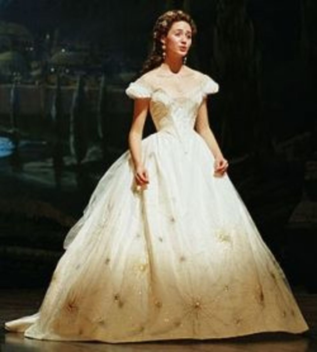 Emmy Rossum as Christine Daae in the Think of Gown from Phantom of the Opera