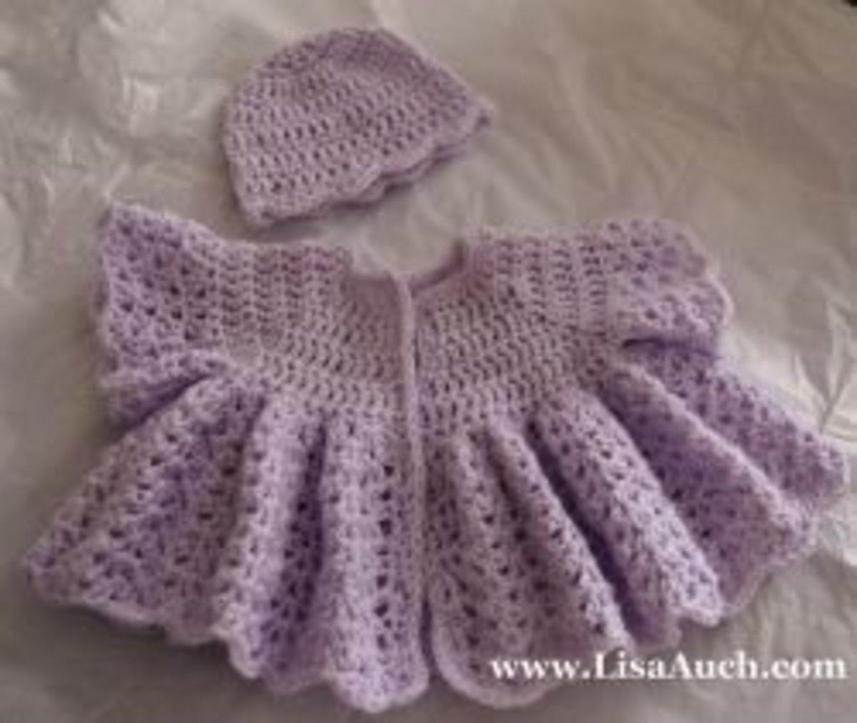 Beautiful FREE crochet Baby Cardigan and Hat