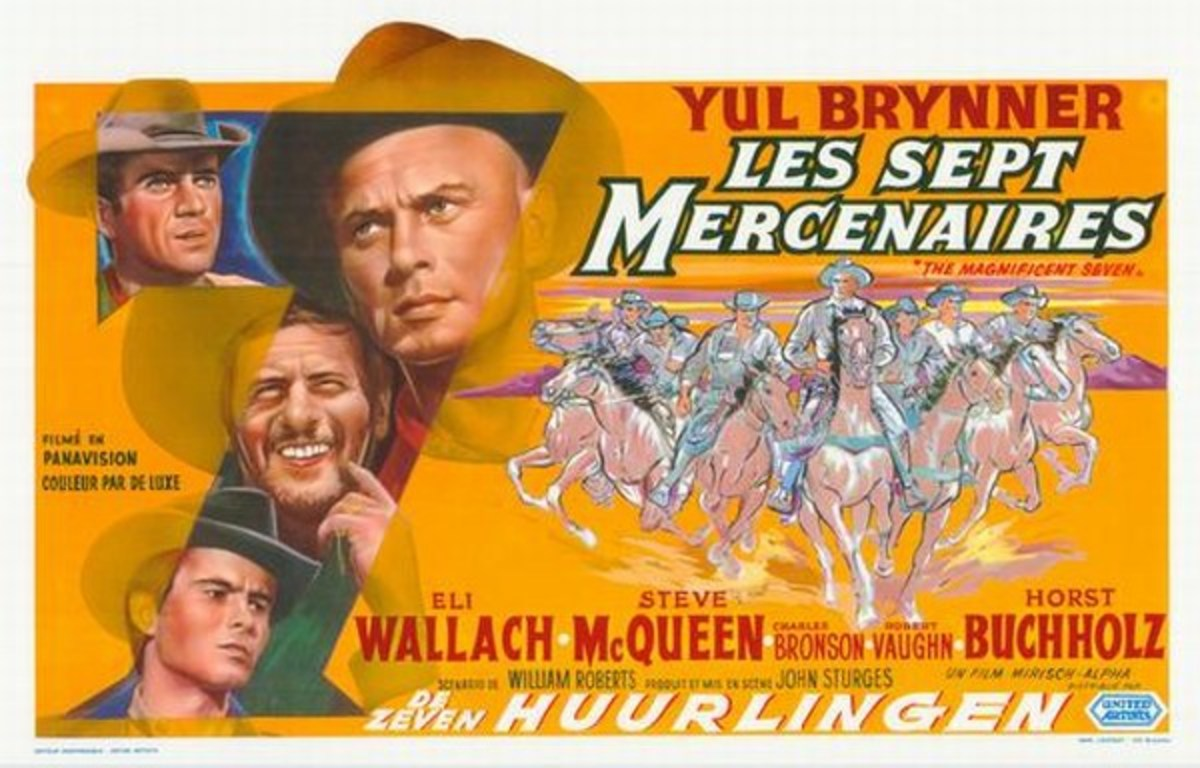 The Magnificent Seven (1960) Belgian poster