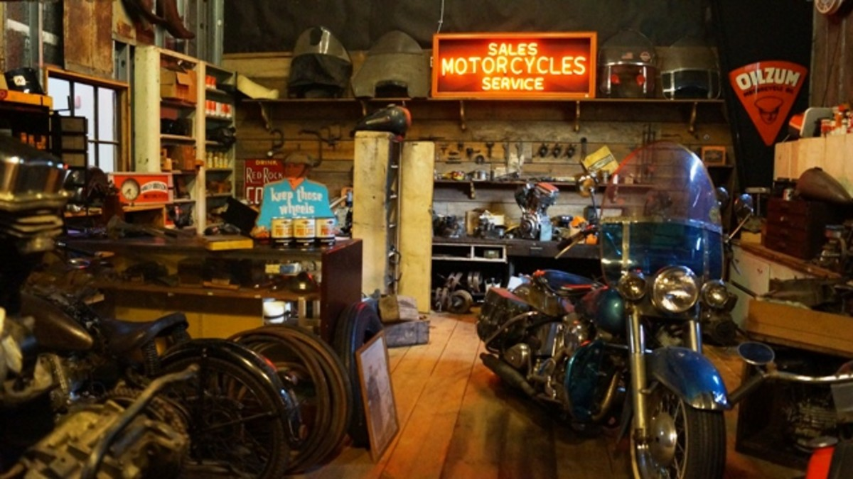 Inside Swim's Shop - a lot of the things inside were in the original Swim's Store in Energy, Illinois.