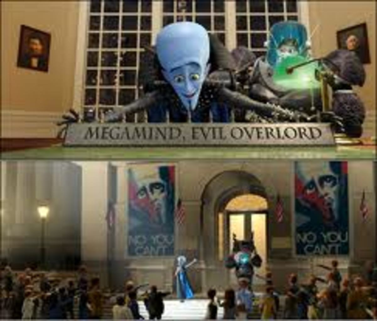 Having gained control Megamind acts like a child and takes everything he wants.